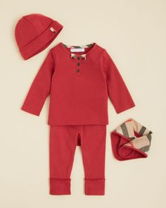 Burberry Infant Girls' 4 Piece Gift Set - Sizes 3-18 Months