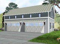 Lurking in side Garage Plan 62593DJ - a half court basketball court! Man Cave lovers unite.