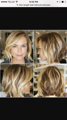 Love this chin length layered bob