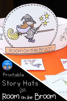 Halloween story sequencing hats for pre-k, kindergarten, or grade. These differentiated printable crowns are an easy prep activity for October.