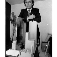 Donald Trump in 1980, with a model of Trump Tower, shortly before he acquired 100 Central Park South.  #DonaldTrump #Trump #PresidentTrump #TeamTrump #trumpfamily #Trump2017 #MakeAmericaGreatAgain #Conservative #Republican #Liberal #Democrat #Ccw247 #MAGA #Politics #LiberalLogic