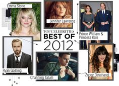 """""""Top Celebrities: Best of 2012"""" by katiemacmac ❤ liked on Polyvore"""