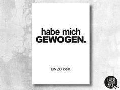 Poster mit Spruch // quote poster via DaWanda.com