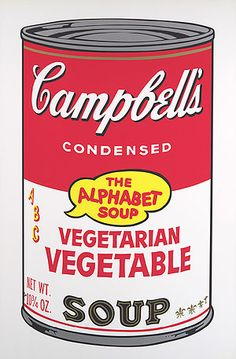 Vegetarian Vegetable from Campbell's Soup II, 1969 - Andy Warhol - Screenprint  35 x 23 in.