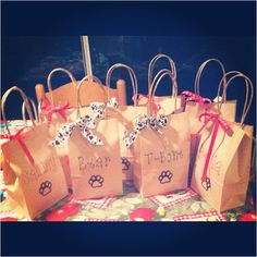 Dog party treat bags for Coco & LoLa b-day party, can't wait to plan this one!