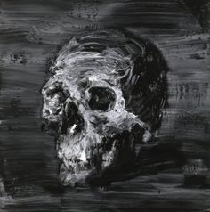 Yan Pei-Ming, Autoportrait, 2006, 100 x 100 cm