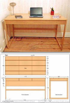 Computer Desk Plans - Furniture Plans and Projects | WoodArchivist.com