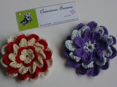 Floral broch Flower decoration to scarf and by CreacionesSusana