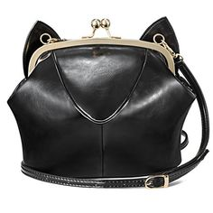 My Wonderful World Womens Spring Summer Kitten Ear Shoulder Bag Black ** More info could be found at the image url.