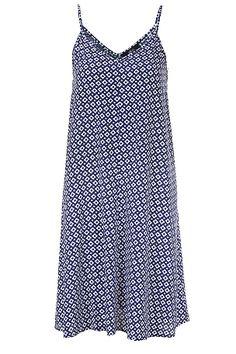 Ellos Collection Kjole med smale skulderbånd Orangemønstret, Blåmønstret, Grønn/blå mønstret - Dame - Kjoler | Ellos Mobile