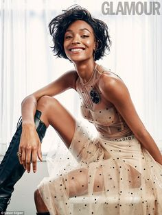 Dazzling:Jourdan Dunn insists her high-flying career and stunning looks do not make her a...