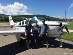 Das Dreierteam Patrick   Marcel   Dario nach der Landung