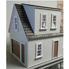 Side View of Lansdowne One Car Garage/Workshop Scale Kit Dollhouse Design, Dollhouse Kits, Front Entry, Entry Doors, Car Garage, Garage Doors, Garage Apartments, Garage Workshop, First Car