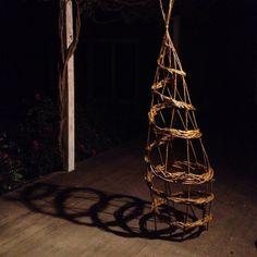 #spiral #willow #sculpture made from #weeds #nature #craft #bundanoonwinterfestival #workshop