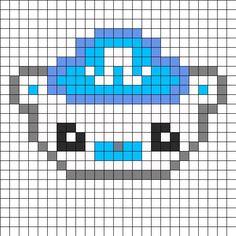 Hama bead pattern: Captain Barnacles from the Octonauts