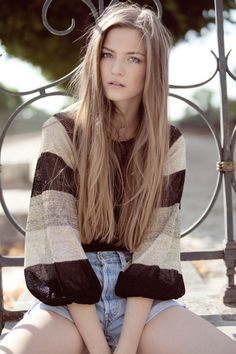 This is the color my hair will be once I get sick of the white/platinum blonde.