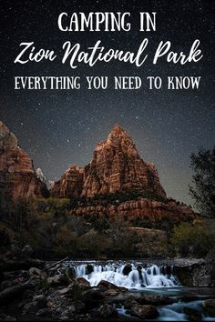 Dreaming of camping in Zion National Park? This guide covers the best time to camp, how to get there, what to pack, the best campgrounds and. Zion Camping, Camping Spots, Camping Hacks, Best Camera For Hiking, Zion National Park, National Parks, Zion River Resort, Rv Parks And Campgrounds, Best Places To Camp