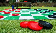 Giant Lawn Checkers | 25+ Yard Games