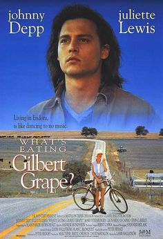 What's Eating Gilbert Grape is a 1993 comedy-drama film directed by Lasse Hallström and starring Johnny Depp, Juliette Lewis & Leonardo DiCaprio. Peter Hedges wrote the screenplay, adapted from his 1991 novel of the same name. Leonardo Dicaprio, Irgendwo In Iowa, Movies Showing, Movies And Tv Shows, Gilbert Grape, Cinema Posters, Movie Posters, Actor Secundario, Bon Film