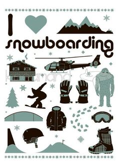 Items similar to I love snowboarding on Etsy Longboarding, Wakeboarding, Snowboarding Quotes, Skate Surf, Arte Pop, Ski And Snowboard, Extreme Sports, Girls Be Like, Skiing