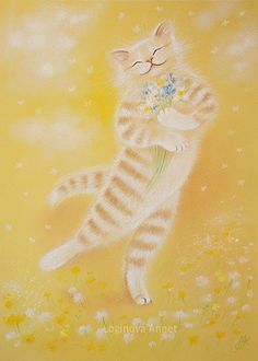 This picture will be a wonderful year for your home decor! Soft Pastel Art, Lots Of Cats, Cat Posters, Orange Cats, Cat Colors, Fluffy Cat, Here Kitty Kitty, Dog Art, Cute Drawings