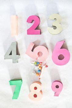 Paper Number Pinatas