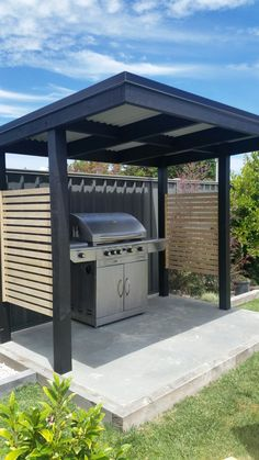 My new bbq shelter! Outdoor Grill Area, Outdoor Grill Station, Outdoor Cooking Area, Outdoor Kitchen Patio, Outdoor Kitchen Design, Bbq Gazebo, Backyard Bbq, Backyard Patio Designs, Bbq Shed