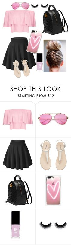 """I💖"" by julcsi9 ❤ liked on Polyvore featuring Boohoo, H&M, Gucci, Casetify and JINsoon"