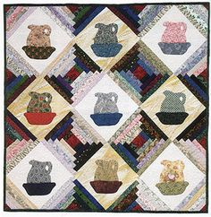 Small Quilt, Pitchers for Tildy's Cabin