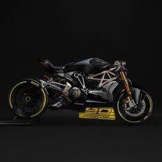 Another custom Ducati unveiled at Verona, the XDiavel based DraXter. Wearing Panigale suspension and brakes and sporting a new, higher powered L-twin engine, this beasts ready to tear apart the drag strip. Click the photo for Ducati Cafe Racer, Inazuma Cafe Racer, Cafe Racers, Concept Motorcycles, Ducati Motorcycles, Custom Motorcycles, Custom Bikes, Ducati Diavel, Ducati Multistrada