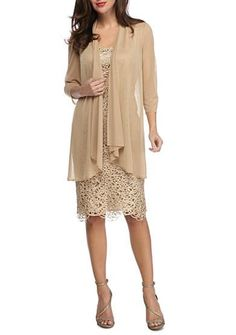 Free shipping on orders $99+, plus easy returns! RM Richards Sheer Jacket Lace Shift Dress: A first-class pick for the mother of the bride, this ever-so elegant shift dress is lavishly designed in allover lace and is paired with a sheer jacket crafted with cunning appeal. Spark conversation as you make your way down the aisle in this dynamic ...