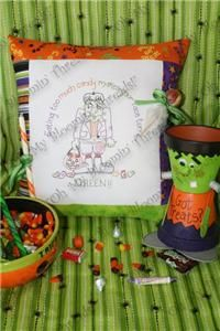 Eating Too Much Candy Embroidery Pattern (A53) Embroidery Patterns by Oh My Bloomin' Threads