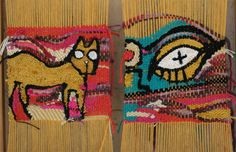 weavings made based on an art piece by noel fielding. still in process….