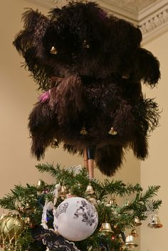 Feather duster topper on Downton Abbey tree.