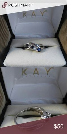 Kay Jewelers sterling silver ring Kay Jewelers Sterling Silver blue and white sapphires.  Excellent Condition Kay Jewelers Jewelry Rings