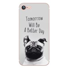 Cute Animals Dogs Case for iphone 6 6S 5s SE 7 7plus 6plus 6Splus Soft Silicone Phone Back Cover Capinha Coque