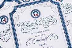 Obama Invitation by Jessica Hische