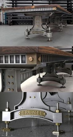 The Brunel Table - incredible industrial design, crafted by Steel Vintage. Perfect to impress your clients in the boardroom