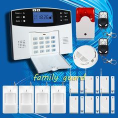81.35$  Buy now - http://alio11.shopchina.info/1/go.php?t=32225261774 - DHL Free Shipping!Flash Siren Upgraded Latest Wireless GSM Alarm system Home Security Alarm Systems English Spanish French Voice  #buyonlinewebsite