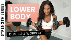 LOWER BODY DUMBBELL WORKOUT - STRENGTH SERIES - YouTube Dumbbell Workout, Body Workouts, Strength, Youtube, Dumbbell Workout Program, Weight Training, Youtubers, Youtube Movies, Electric Power