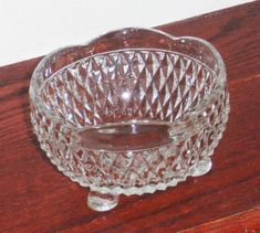Check out our diamond point selection for the very best in unique or custom, handmade pieces from our collectible glass shops. Vintage Dishware, Vintage Jars, Vintage Dinnerware, Antique Glassware, Vintage Dishes, Antique Dishes, Vintage Pyrex, Fostoria Glass, Clear Crystal
