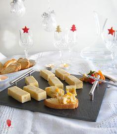 Receta de Lingotes de queso cheddar con naranja confitada y orejones. Aperitivo para Navidad Tapas, Queso Cheddar, Brunch, Dairy, Cheese, Food, Appetizers, Christmas 2017, Water