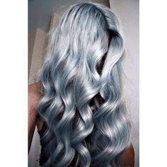 Hair | Tumblr blue hair,  #silver
