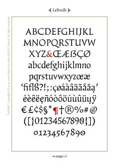 """""""LeBrush"""" by PeGGO Fonts on Behance"""