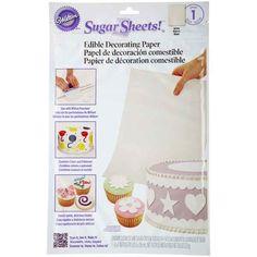 White Edible Sugar Sheets | 1 Sheet