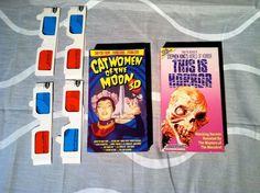 STEPHEN KING'S WORLD OF HORROR CatWomen..Moon 3-D Glasses Horror VHS Lot.
