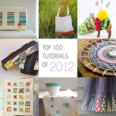 top 100 tutorials of 2012 via   The Long Thread. Love this round up every year!!