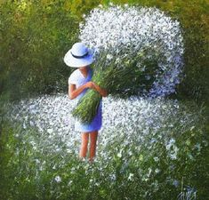 Happiness (Painting), cm by DIMA DMITRIEV The painting characterized by strong colour and bold strokes makes with palette knife on canvas background playing with light and shadow. Canvas Background, Painting Of Girl, Jolie Photo, Naive Art, Acrylic Art, Beautiful Paintings, Figurative Art, Painting Inspiration, Flower Art