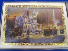 Artist's depiction of a mid 1880's Christmas time gathering.