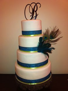 peacock wedding cake - Google Search